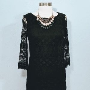 London Times Black Lace Dress, NWT